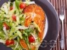 Рецепта Котлети от риба от сьомга пържени на тиган със свежа салата